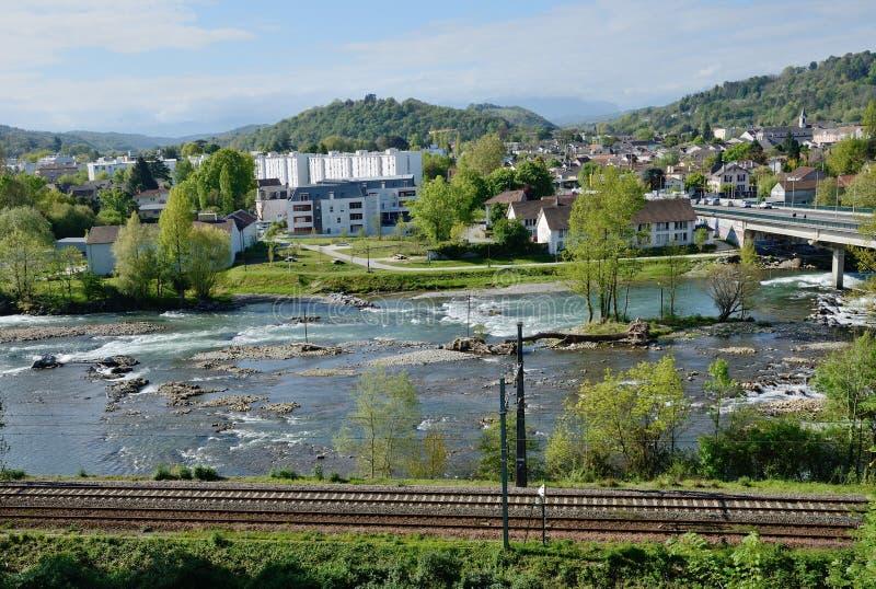 Wiosna widok Francuski miasto Pau zdjęcie royalty free