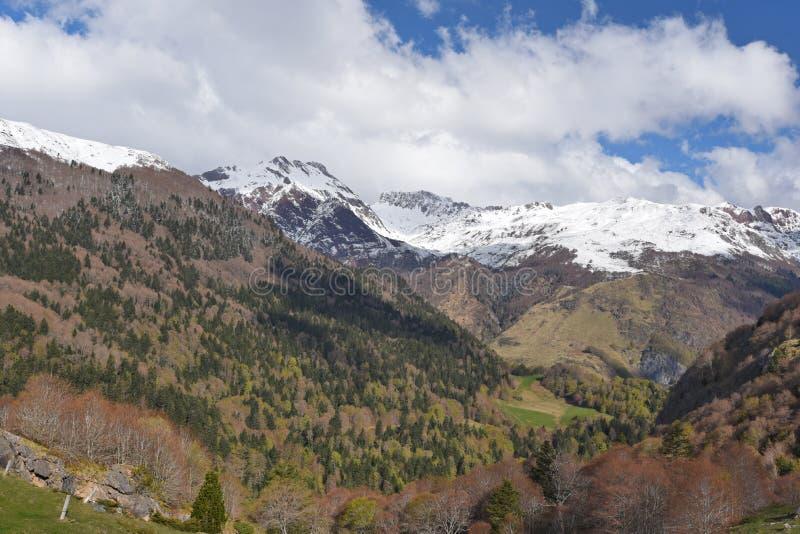 Wiosna widok Pyrenees góry obraz royalty free
