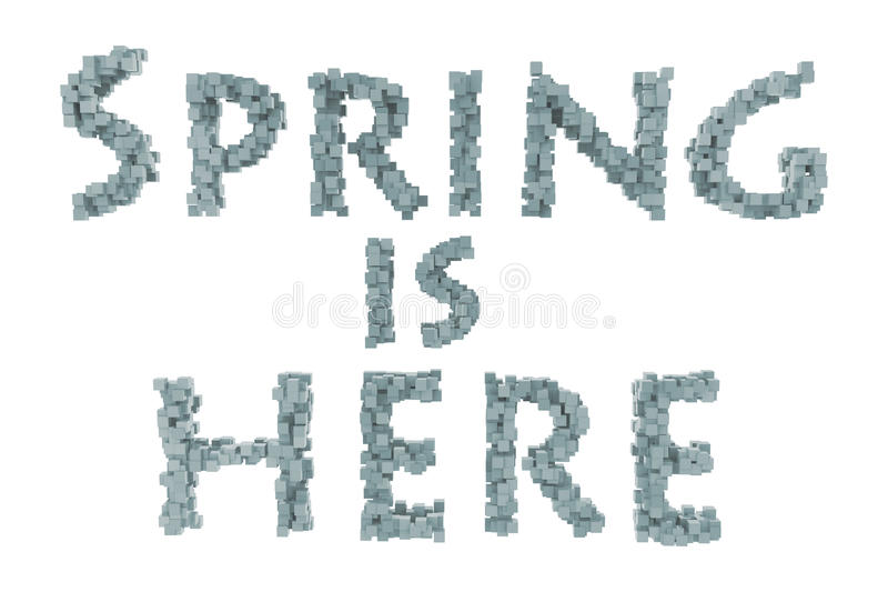 Wiosna Wiosna tematu quilling list od quilling chrzcielnic inkasowych Cześć wiosna obrazy stock