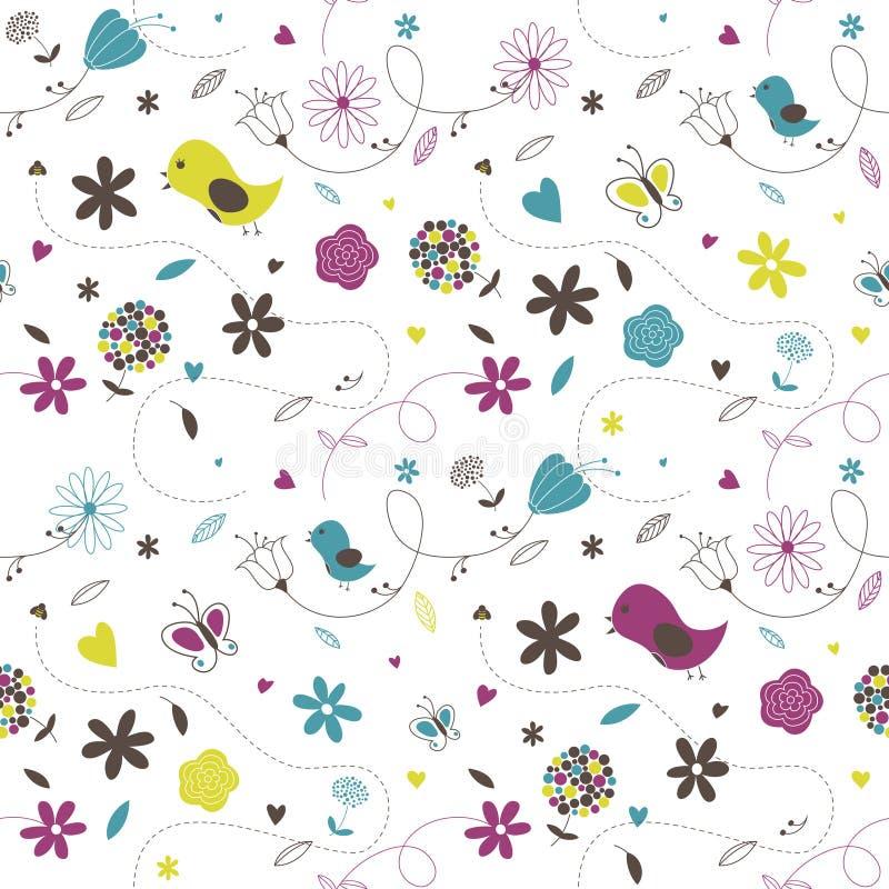 Wiosna wzór royalty ilustracja