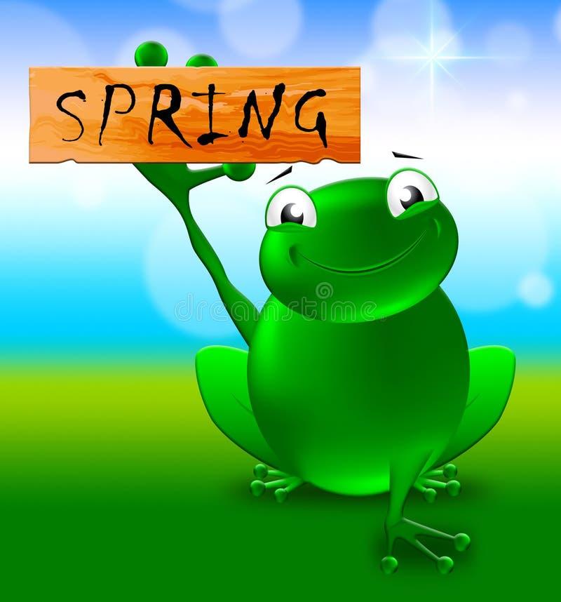 Wiosna znak Pokazuje Naturalnego środowiska 3d ilustrację royalty ilustracja