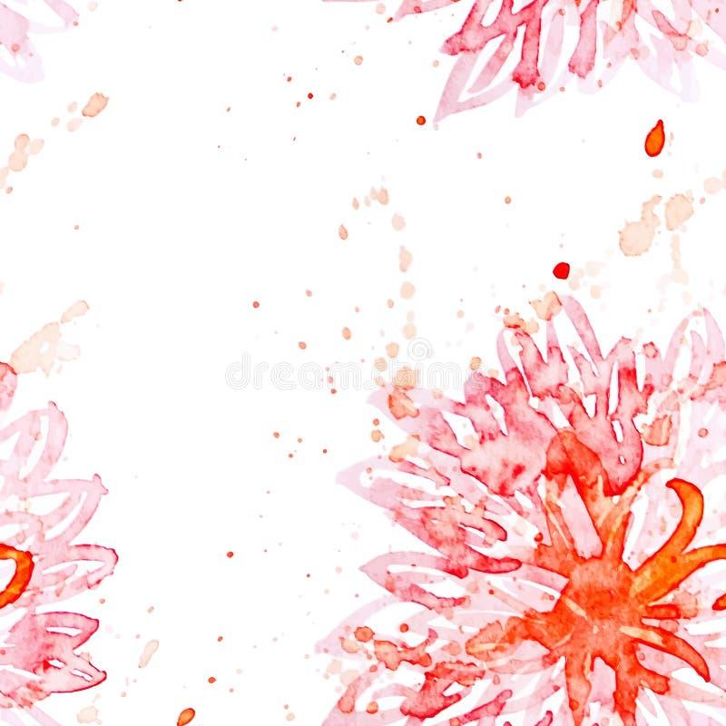 Wiosny akwareli kwiatu tło Wektor ilustrujący ilustracja wektor
