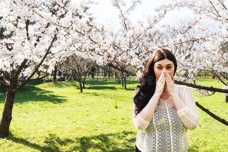 Wiosny alergia, pollen obraz stock
