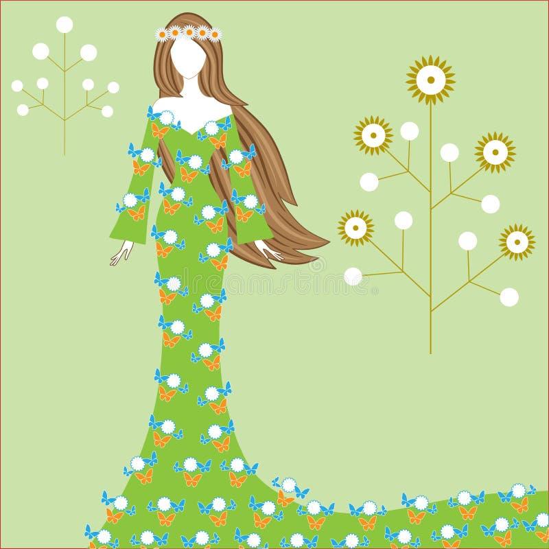 Wiosny bogini royalty ilustracja