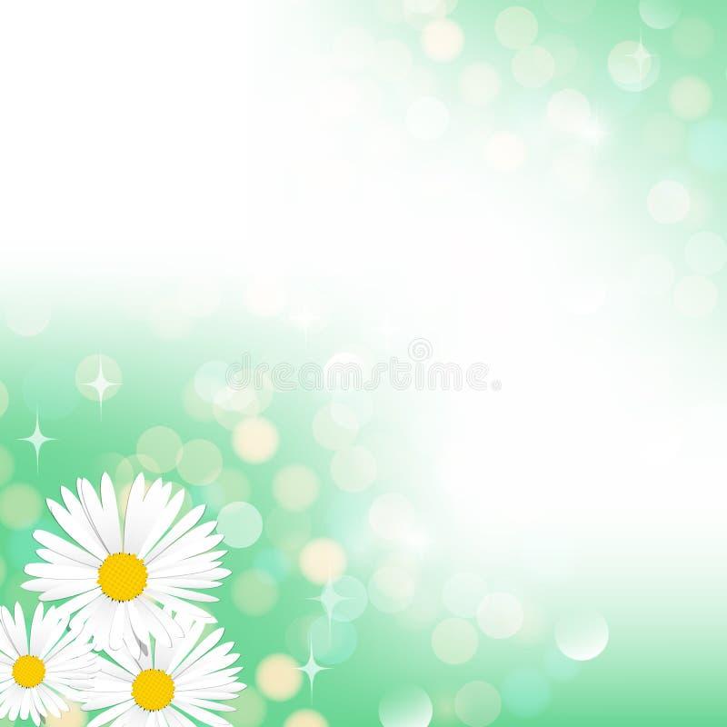 Wiosny bokeh zielony tło ilustracja wektor