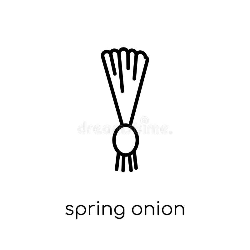 Wiosny cebulkowa ikona od owoc i warzywo kolekcji ilustracja wektor