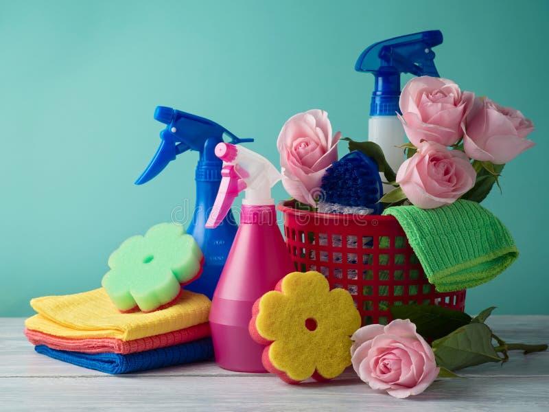 Wiosny cleaning pojęcie zdjęcia stock