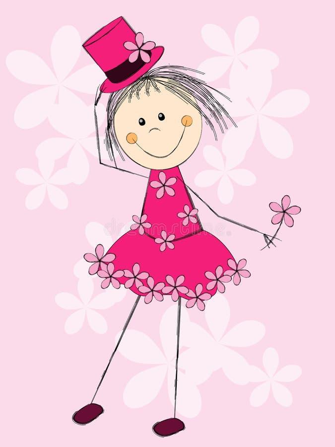 Wiosny dziewczyna ilustracja wektor