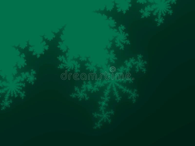 Wiosny fractal zielony tło ilustracji