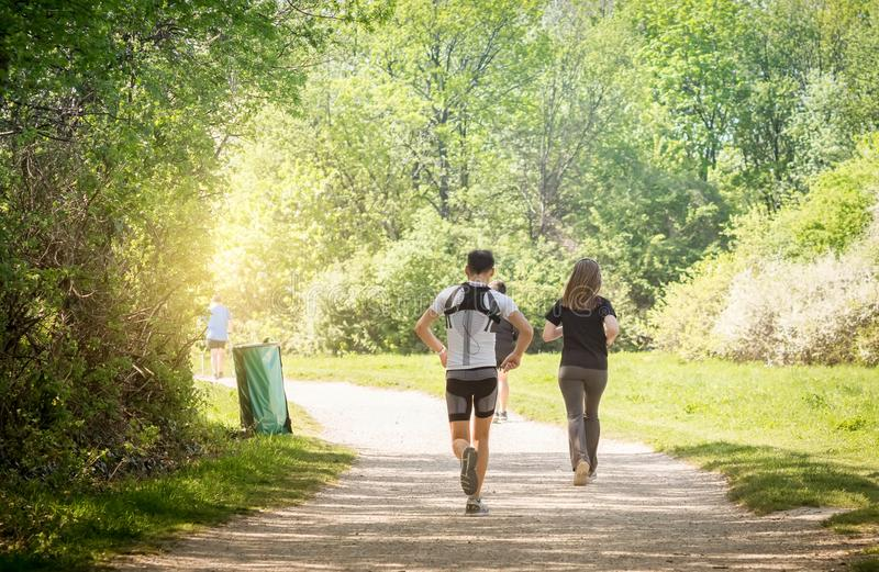 Wiosny jogging obrazy stock