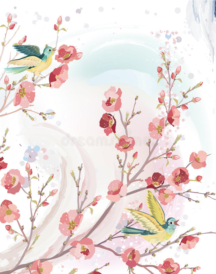 Wiosny karta ilustracja wektor