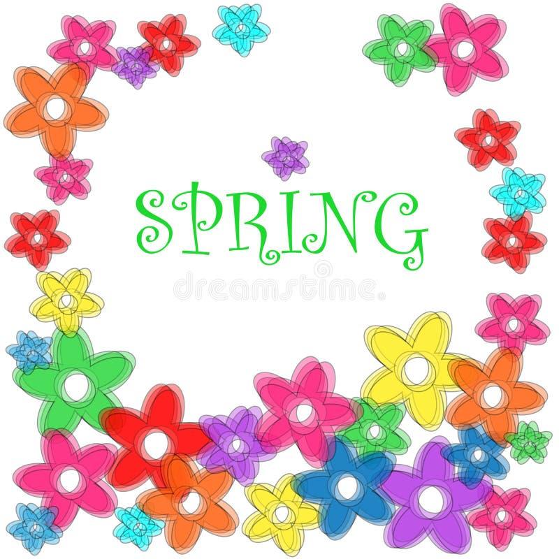 Wiosny kwiecista rama ilustracja wektor