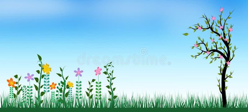 Wiosny lata t?o royalty ilustracja