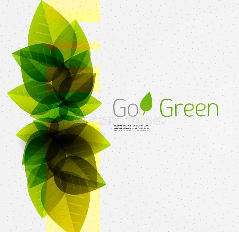 Wiosny, lata zieleń/opuszcza natury tło ilustracja wektor