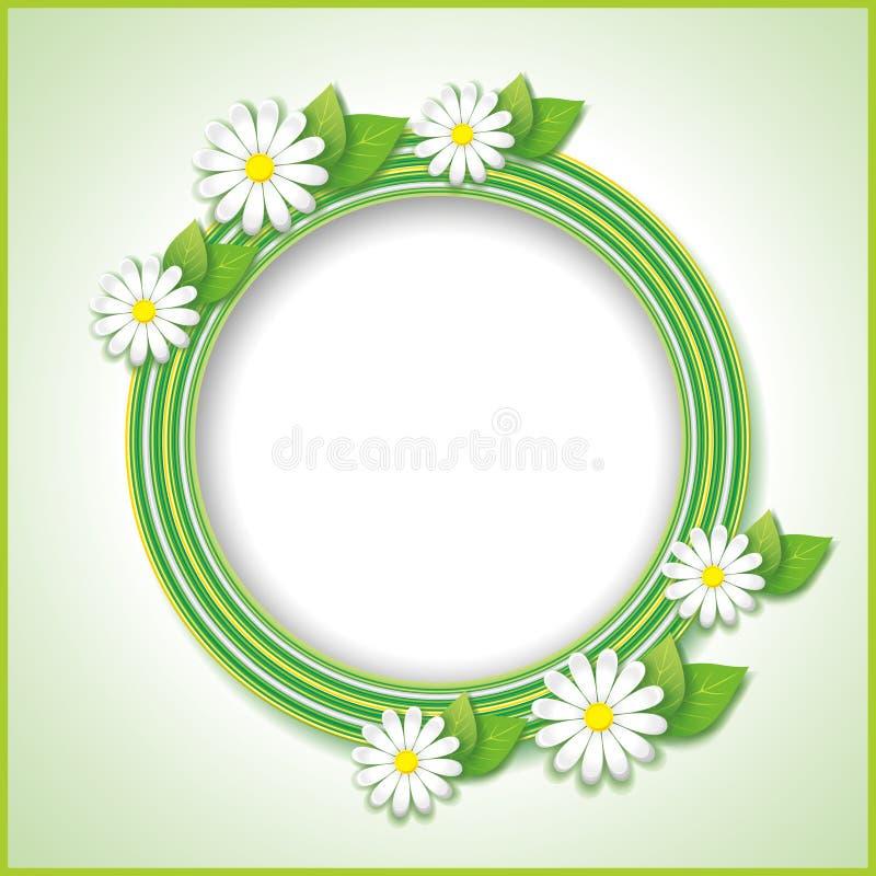Rocznika tło z wiosną lub lato kwiatem royalty ilustracja