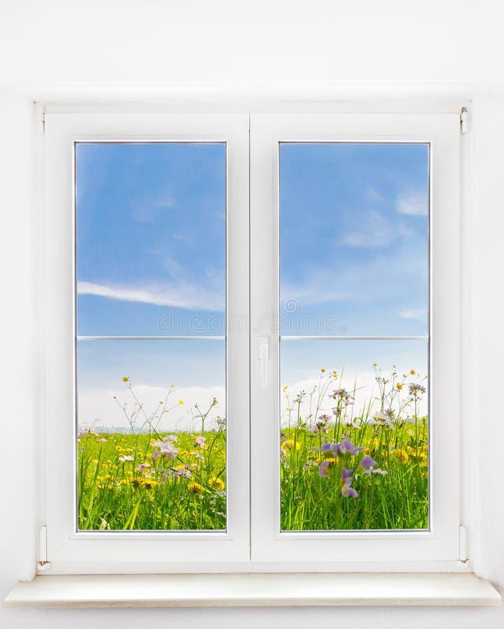 Wiosny okno zdjęcie stock