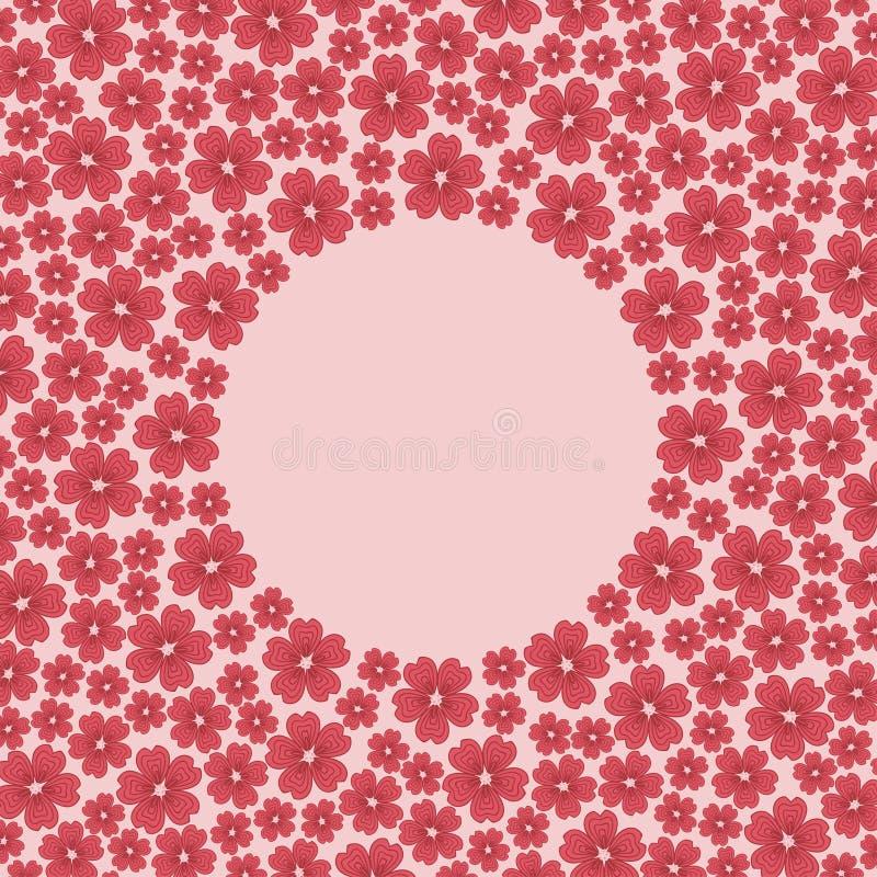 Wiosny okwitnięcia kwiaty odizolowywający na różowym tle royalty ilustracja