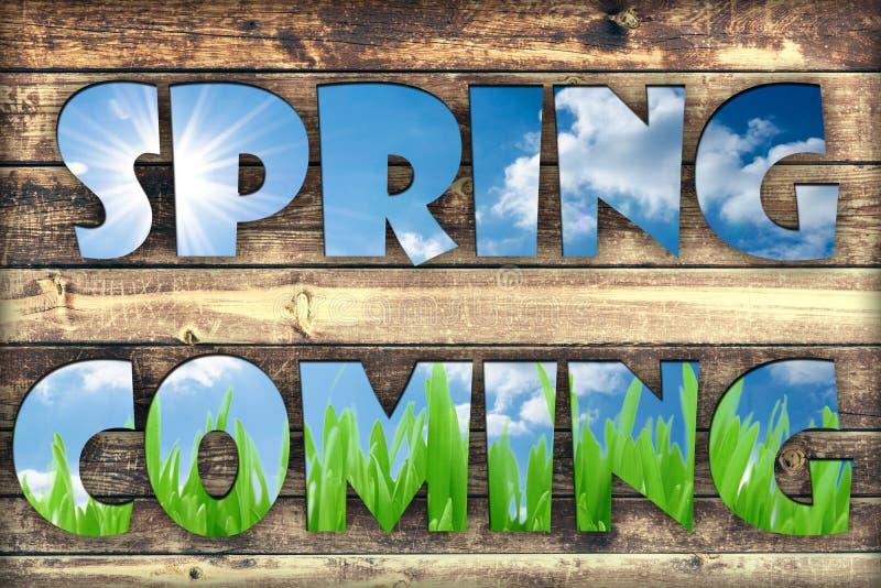 Wiosny przybycie ilustracja wektor