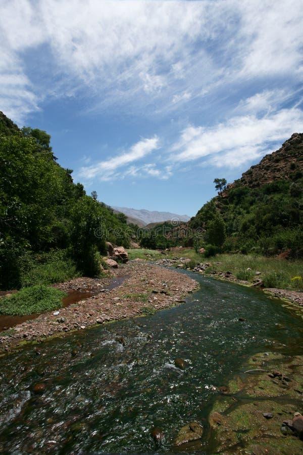 Wiosny rzeka w górze fotografia stock