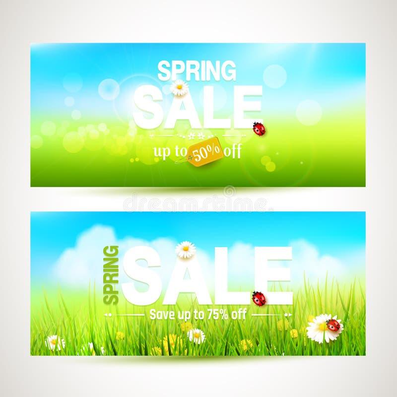 Wiosny sprzedaży chodnikowowie ilustracja wektor