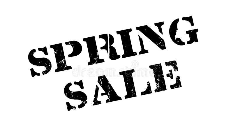 Wiosny sprzedaży pieczątka ilustracja wektor