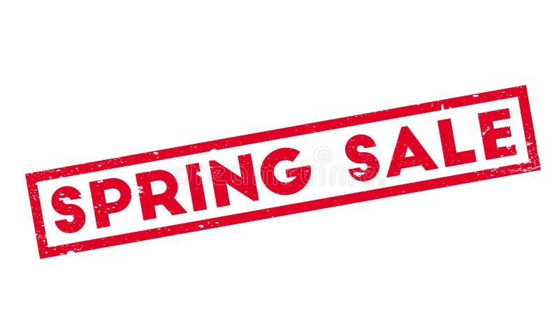 Wiosny sprzedaży pieczątka ilustracji
