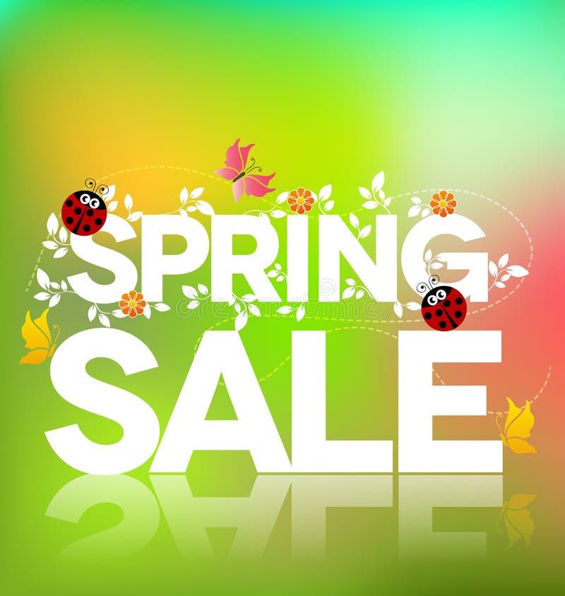 Wiosny sprzedaży plakat royalty ilustracja