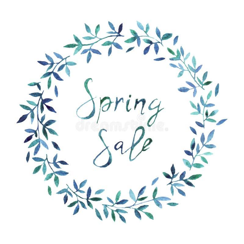 Wiosny sprzedaży sztandar, plakatowy szablon z wiosną kwitnie fotografia stock