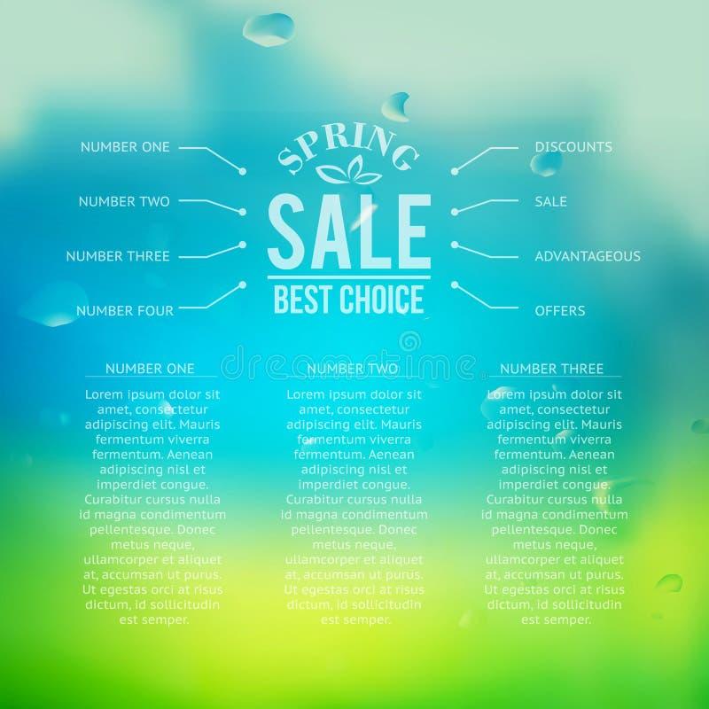 Wiosny sprzedaży tło z tekstem ilustracji