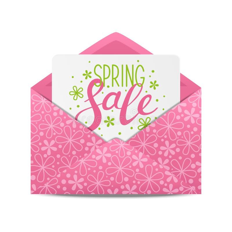 Wiosny sprzedaży wiadomość ilustracja wektor