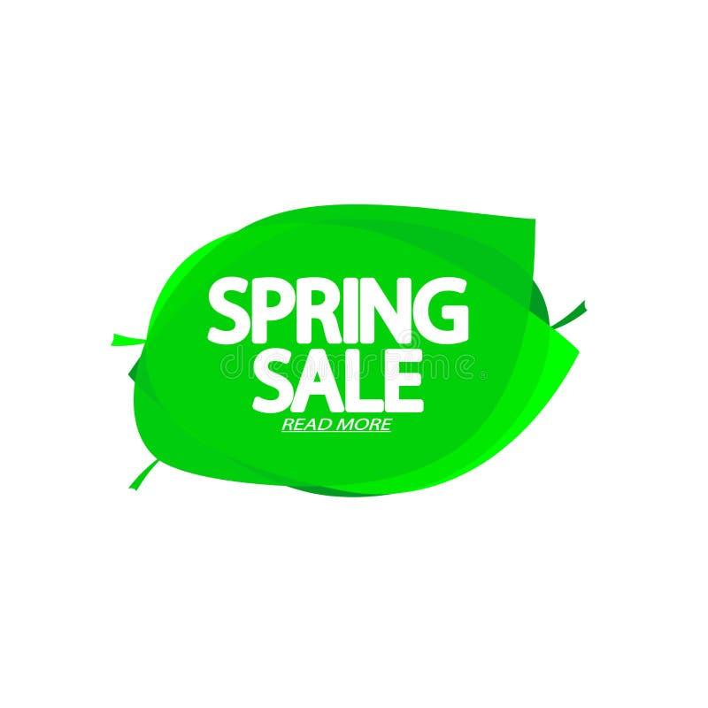 Wiosny sprzeda?, b?bla sztandaru projekta szablon, dyskontowa etykietka, app ikona, wektorowa ilustracja royalty ilustracja