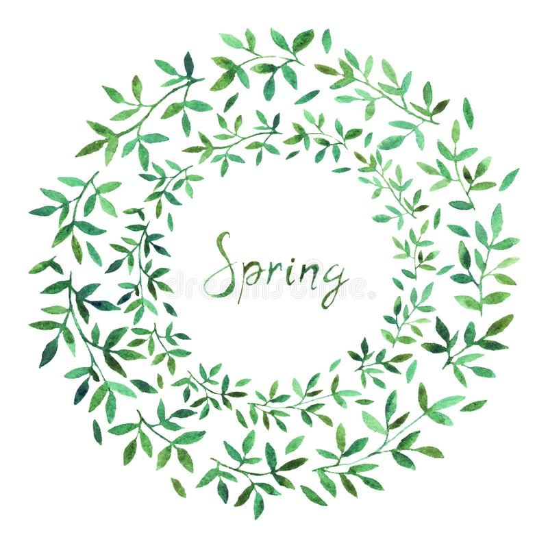 Wiosny sprzeda?y sztandar, plakatowy szablon z wiosn? kwitnie zdjęcie royalty free