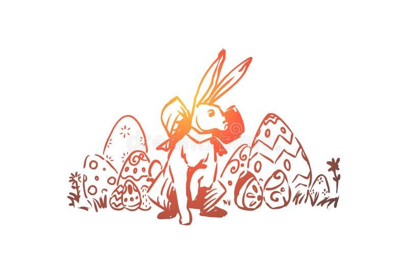 Wiosny wakacyjny ?wi?towanie, paschalna tradycja, pysanka z dekoracyjnym ornamentem, ?liczny kr royalty ilustracja