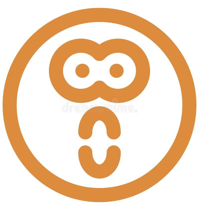 wiotczenie, emoticons Wektorowa Odosobniona ikona która może łatwo redagować lub modyfikować royalty ilustracja