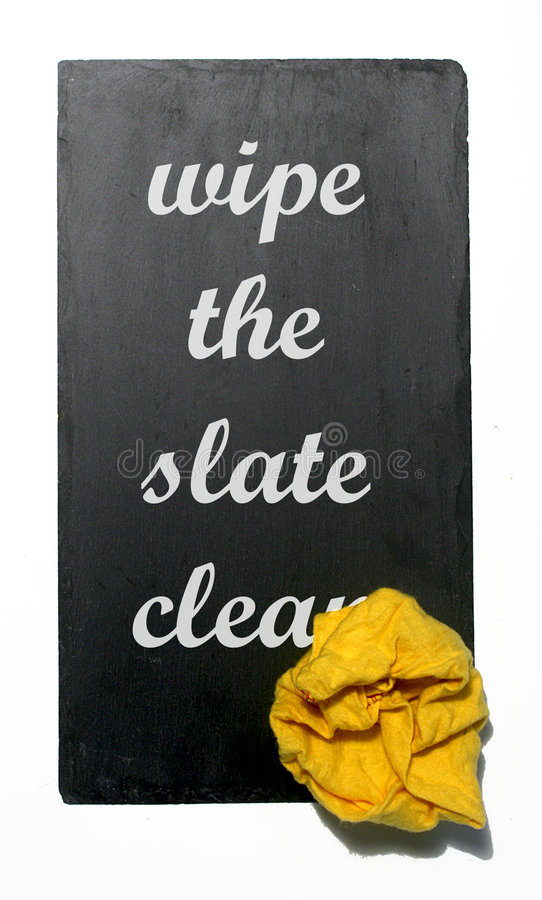 Download Wipe the slate clean stock photo. Image of debt, eraser - 6521532