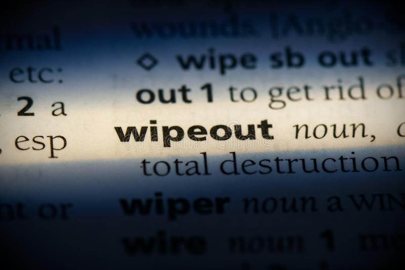 Wipeout royalty free stock photos