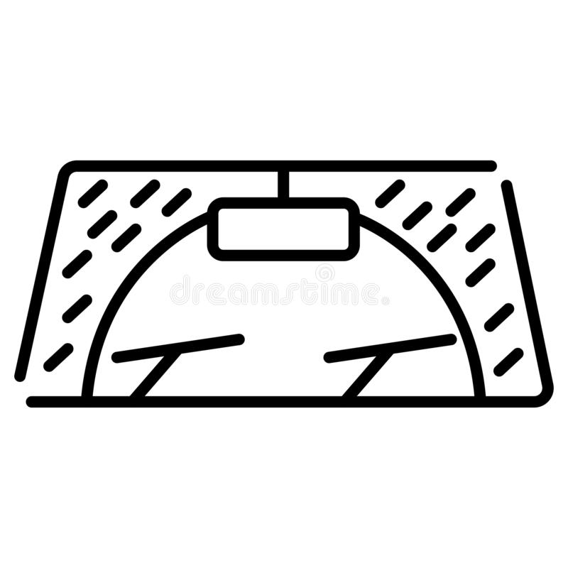 Wiper car icon. Vector illustration royalty free illustration