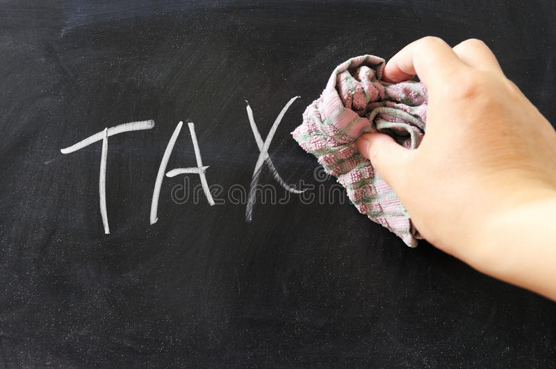Wiping off tax stock photo
