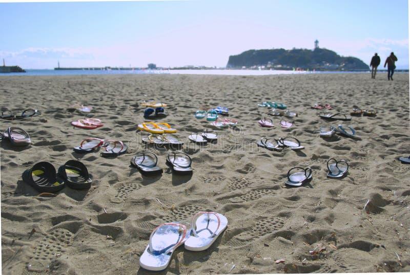 Wipschakelaars oon een strand royalty-vrije stock afbeelding
