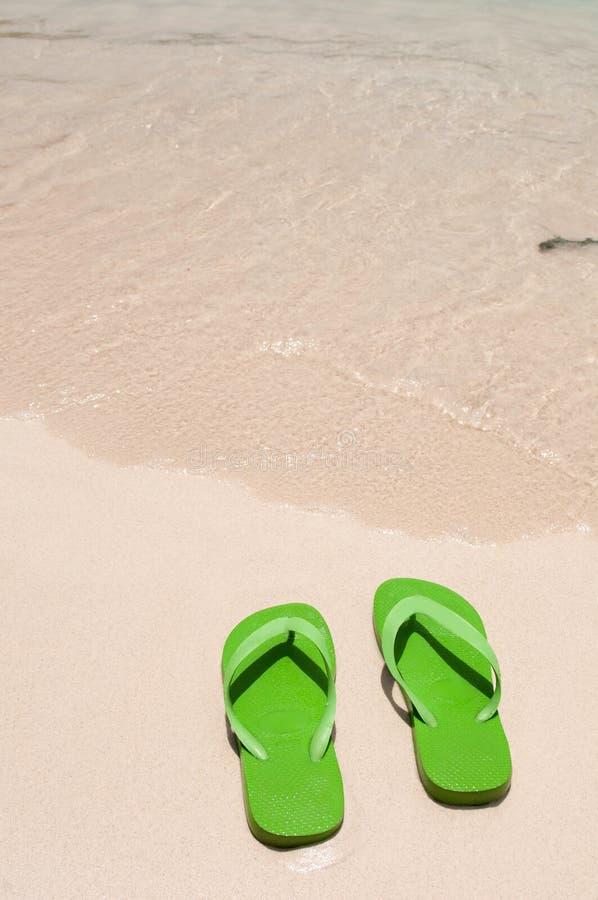 Wipschakelaars op het strand stock afbeelding