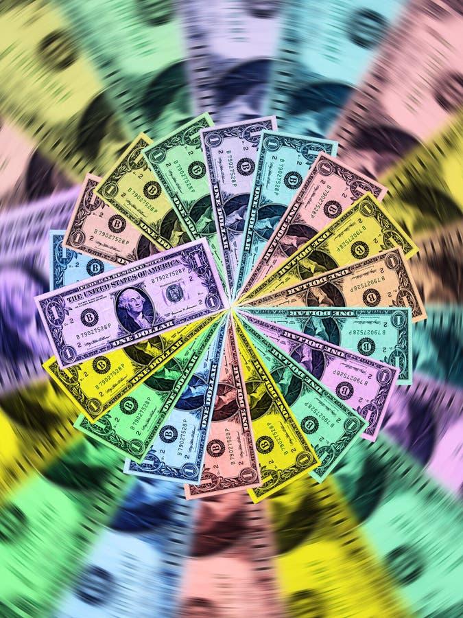 wirów barwioni dolary obrazy royalty free