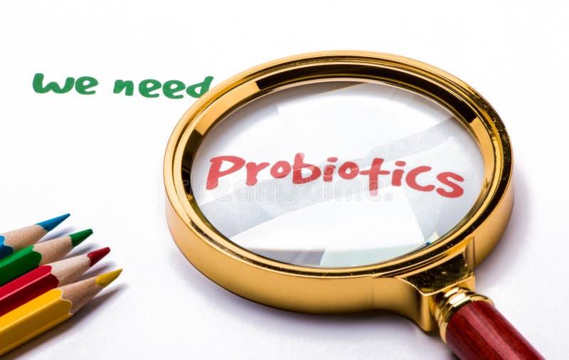 Wir benötigen Probiotics stockfotografie