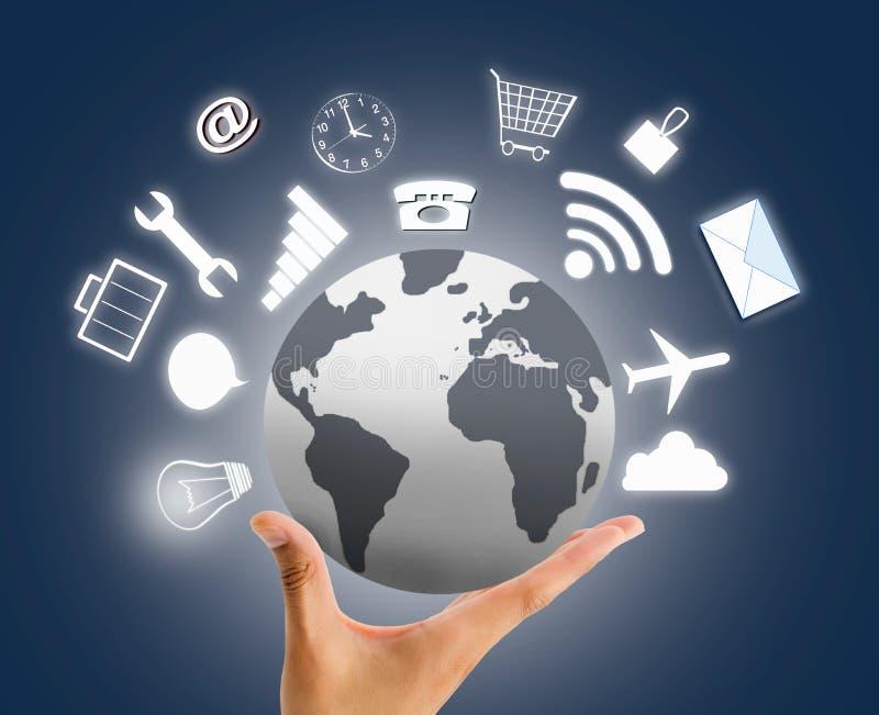 Wir bieten verschiedene Dienstleistungen auf der ganzen Welt an lizenzfreies stockbild