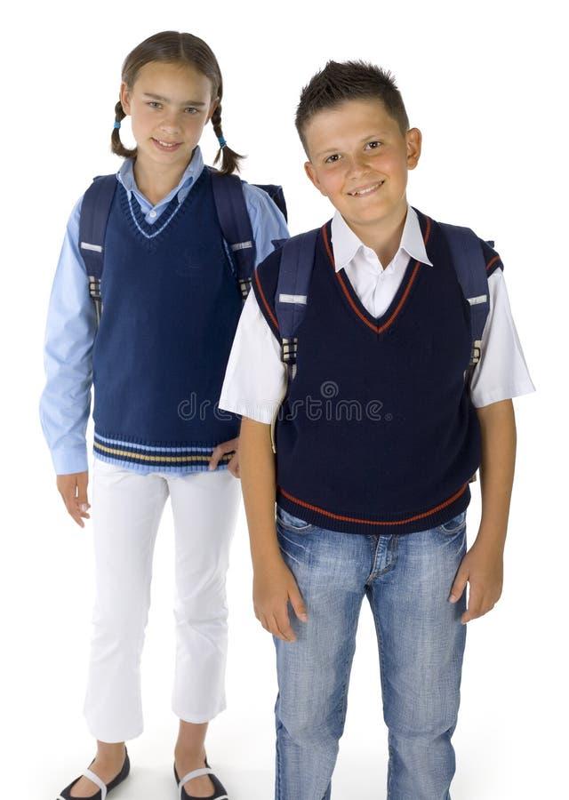 Wir gehen zur Schule stockfotos