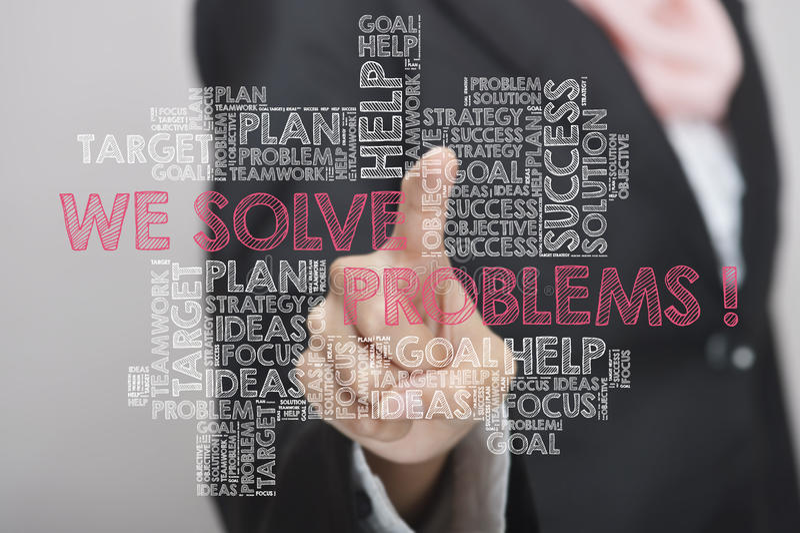 Wir können Probleme lösen stockfoto