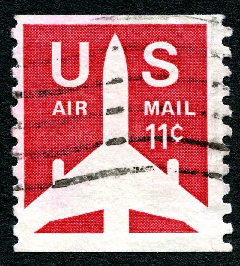 Wir Luftpost-Stempel lizenzfreie stockfotografie
