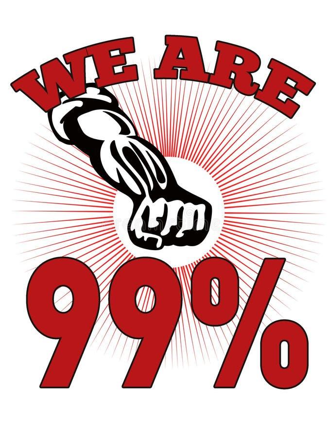 Wir sind 99% besetzen Street-Amerikaner-Arbeitskraft vektor abbildung