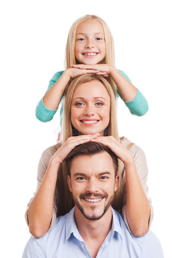 Wir sind Familie! lizenzfreies stockbild