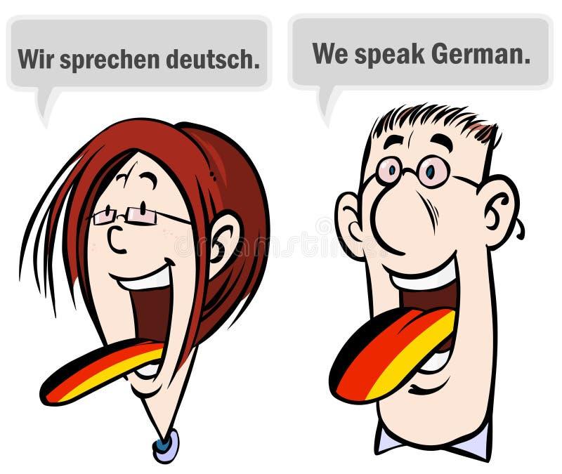 Wir Sprechen Deutsches. Lizenzfreie Stockbilder