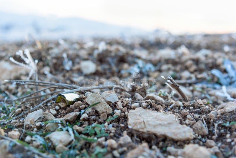 Żwir tekstury kamienny zakończenie up zdjęcie royalty free